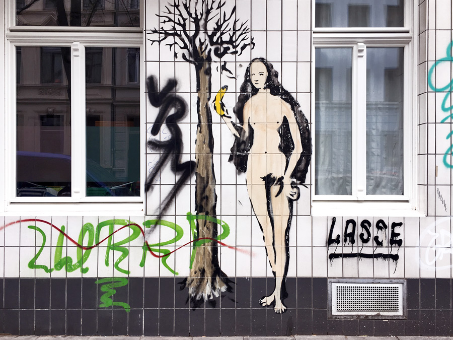 eve graffiti wall cologne