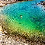 insenatura spiaggia naturista Falasarna vista dall'alto