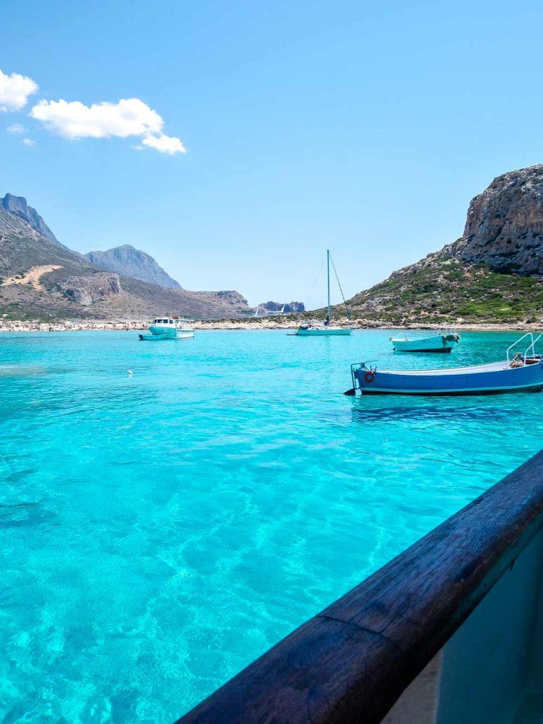 arrivo in nave alla laguna di Balos