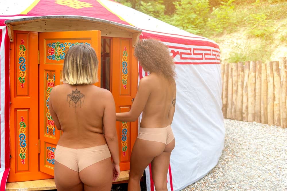 Arrivo nella tenda Yurta