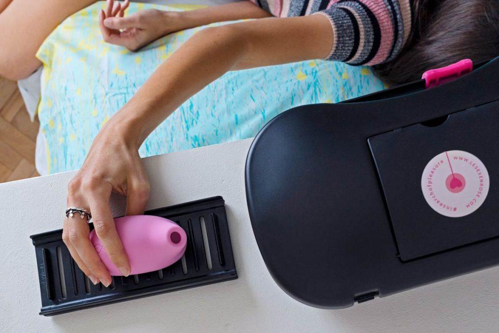contenitore igienico e supporto per sex toy