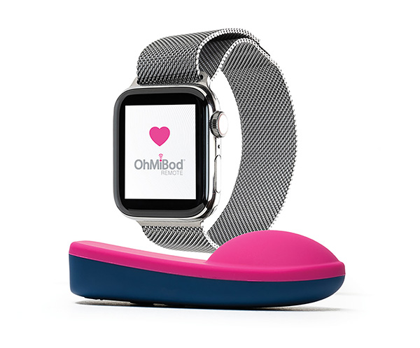 vibratore ohmibod connesso a apple watch