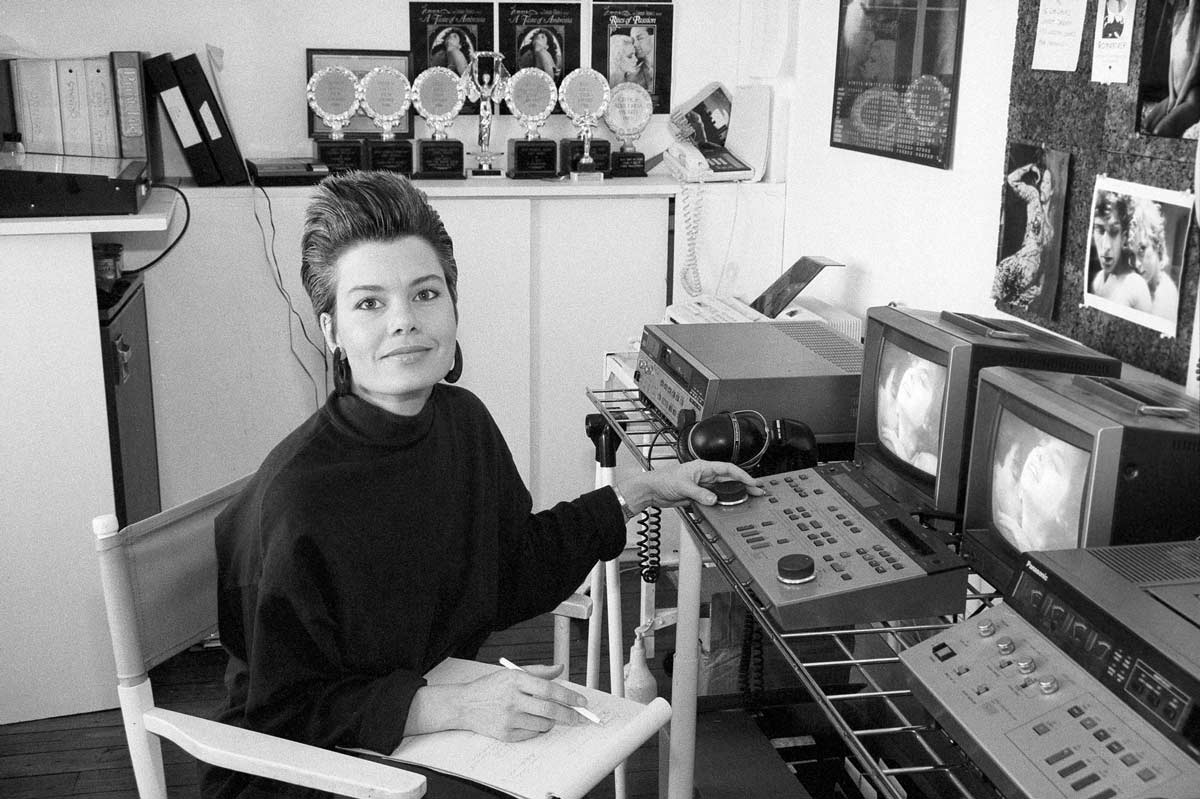 Porn feminist pioneer Candida Royalle in her New York office