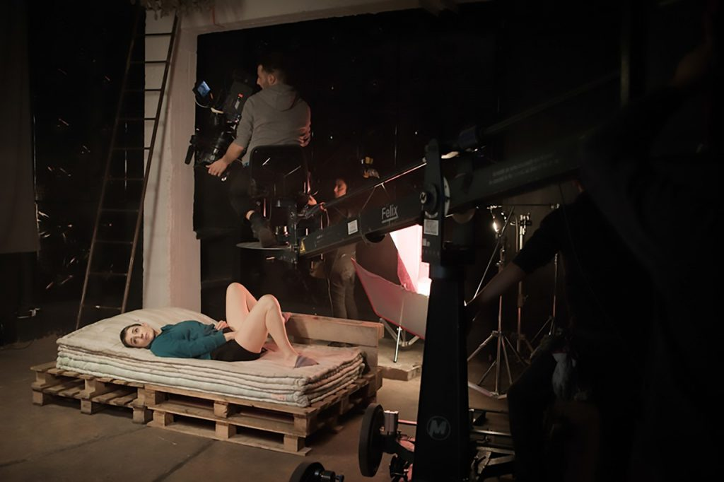 Slavina on the set of Insight feminist porn film